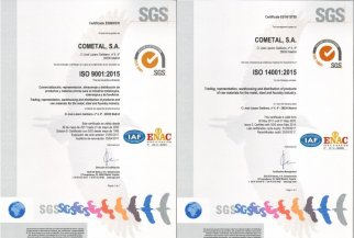 COMETAL renews its ISO 9001:2015 and ISO 14001:2015 certificates